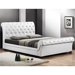 Baxton Studio Leighlin Sleigh Bed in White