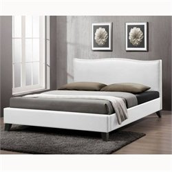 Baxton Studio Battersby Platform Bed in White - Full