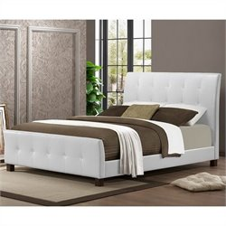 Baxton Studio Amara Platform Bed in White - Queen