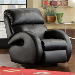 Southern Motion Zoom Wall Hugger Power Recliner in Mystro Black