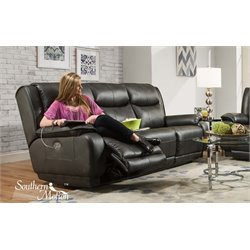 Southern Motion Velocity Power Reclining Sofa in Hemmingway Slate