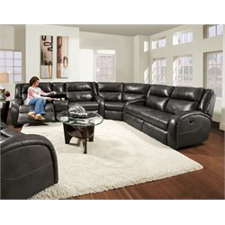 Maverick Reclining Sectional in Surreal Graphite