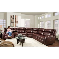 Maverick Reclining Sectional in Alfresco Chianti