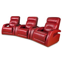 Southern Motion Viva 3 Seat Power Reclining Theater Seating in Surreal Burpee