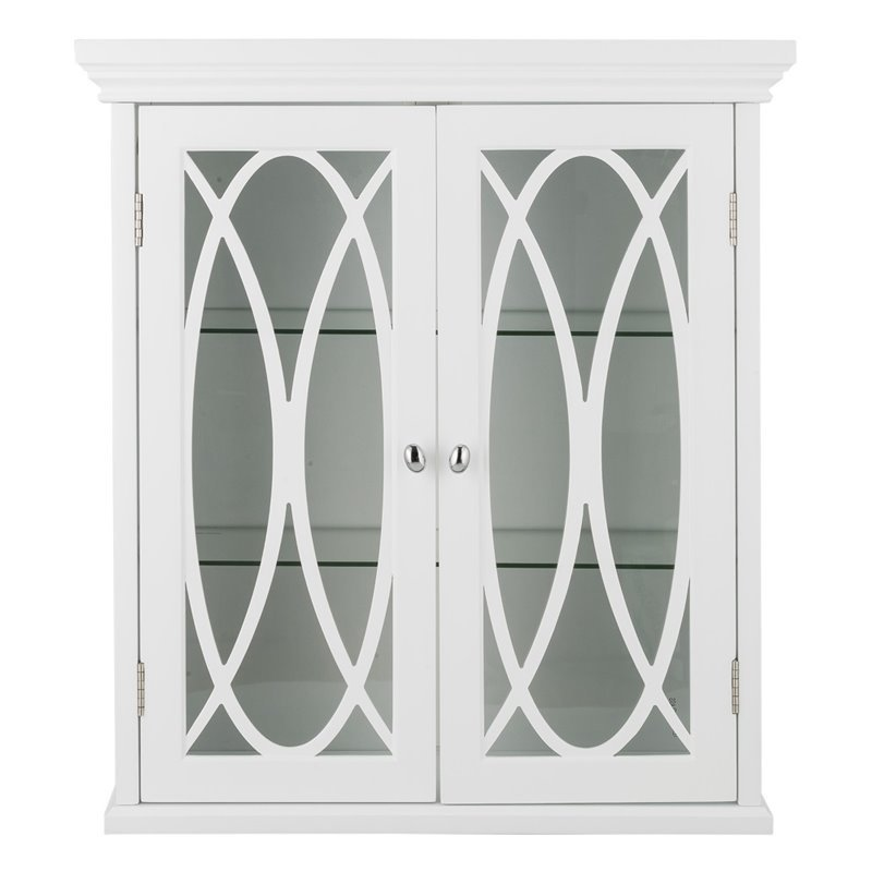 Elegant Home Fashions Florence 2 Door Medicine Cabinet in White