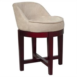 Elegant Home Fashions Swivel Chair in Cherry and Beige
