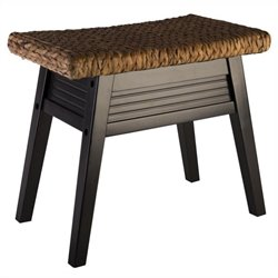 Elegant Home Fashions Davenport Bench in Dark Espresso