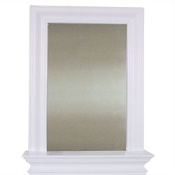 Elegant Home Fashions Stratford Wall Mirror in White