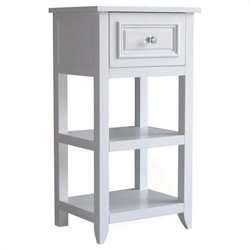Elegant Home Fashions Dawson 1-Drawer End Table in White