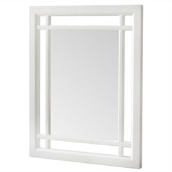 Elegant Home Fashions Neal Mirror in White