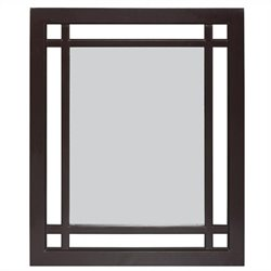 Elegant Home Fashions Neal Mirror in Dark Espresso