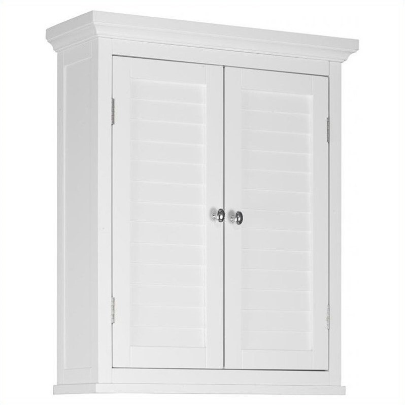2 door wall cabinet in white elg 583