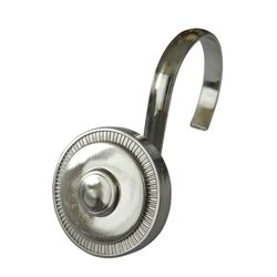 Shower Hook in Brushed Nickel (Set of 12)