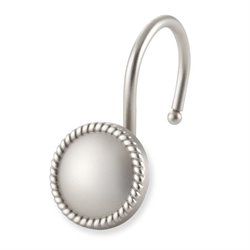 Rope Shower Hook in Brushed Nickel (Set of 12)