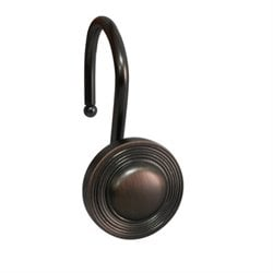 Circles Shower Hook in Bronze (Set of 12)