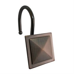 Diamond Line Shower Hook in Bronze (Set of 12)