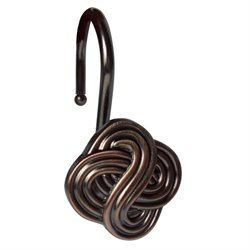 Gaelic Knot Shower Hook in Bronze (Set of 12)