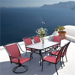 Max Furniture Ambiance 7 Piece Metal Patio Dining Set