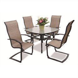 Max Furniture Metropolitan 5 Piece Metal Patio Dining Set