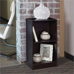 Niche 2-Shelf Bookcase in Truffle