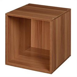 Niche Cubo Stackable Storage Cube in Warm Cherry
