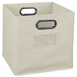 Niche Cubo Foldable Fabric Canvas Tote Bin in Beige