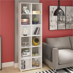 Manhattan Comfort 12 Cubby Natal Bookcase in White