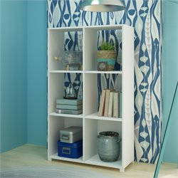 Manhattan Comfort 6 Cubby Natal Bookcase in White