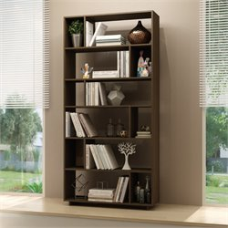 Manhattan Comfort Maringa 12 Shelf Bookcase in Tobacco