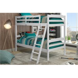 Manhattan Comfort Hayden Solid Pine Wood Twin Size Bunk Bed