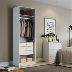 Manhattan Comfort Chelsea 3 Drawer Wardrobe Closet in White