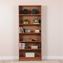 Manhattan Comfort Greenwich Trente 6 Shelf Bookcase in Maple Cream
