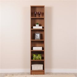 Manhattan Comfort Greenwich Venti 6 Shelf Bookcase in Maple Cream