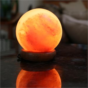 Manhattan Comfort  Sphere Shaped Himalayan Salt Lamp with Dimmer