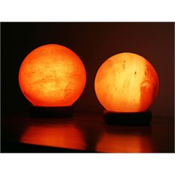 Manhattan Comfort 2 Piece Sphere Shaped Himalayan Salt Lamp Set