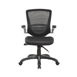 Manhattan Comfort Walden Ergonomic Leather Office Chair in Black
