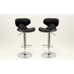 Manhattan Comfort Classy Pablo Barstool with Back (Set of 2)