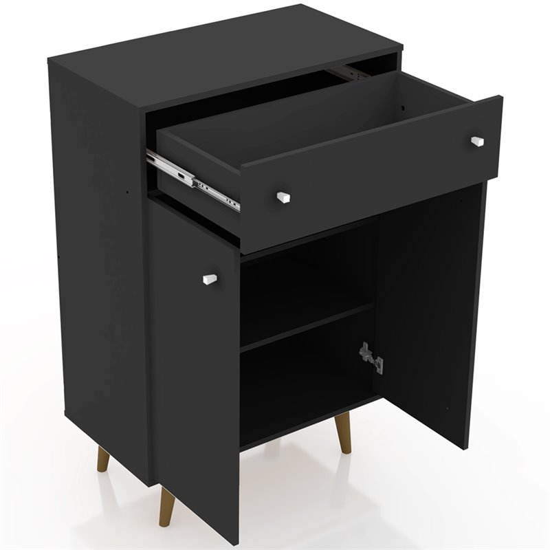 Manhattan Comfort Liberty Storage Cabinet in Black