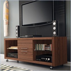 Manhattan Comfort Belvedere 2.0 Series TV Stand in Mocha