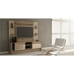 Manhattan Comfort Morning Side Entertainment Center in Nature and Nude