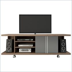 Manhattan Comfort Carnegie TV Stand in Avalon Gloss and Onyx