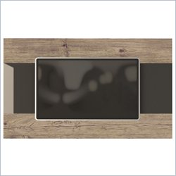 Manhattan Comfort Carnegie TV Panel in Nature and Onyx
