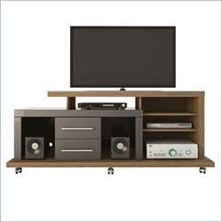 Manhattan Comfort Empire TV Stand in Chocolate and Onyx