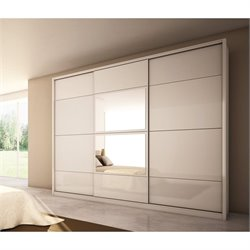 Manhattan Comfort Noho Wardrobe in White Gloss