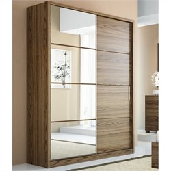 Manhattan Comfort Bellevue 2-Doors Wardrobe in Chocolate