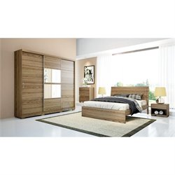 Manhattan Comfort Hudson Wardrobe in Chocolate