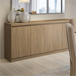 Manhattan Comfort Viennese Buffet Sideboard Table in Walnut