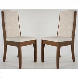 Manhattan Comfort Florence Dining Chair in Nut Brown (Set of 2)