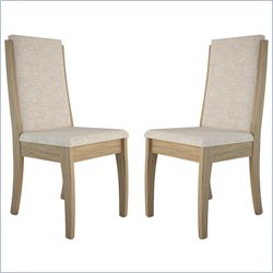 Manhattan Comfort Florence Dining Chair in Walnut (Set of 2)