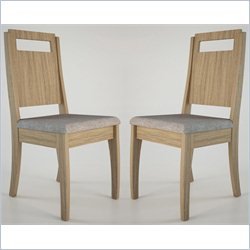 Manhattan Comfort Ferry Dining Chair in Walnut and Gray (Set of 2)